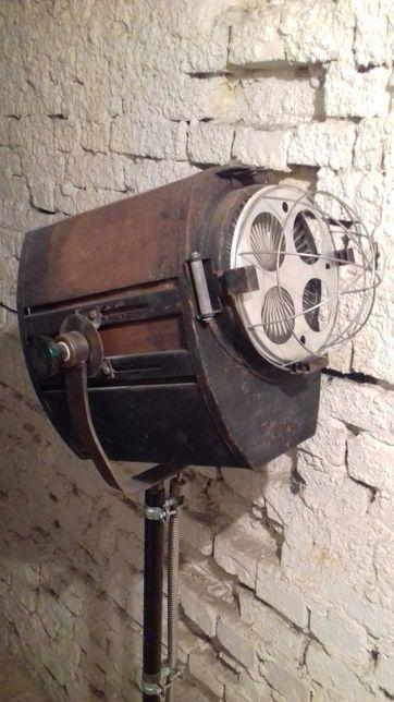 Lampa stojąca reflektor kinowy loft vintage diy