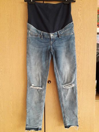 Spodnie ciążowe jeans z panelem H&M 36