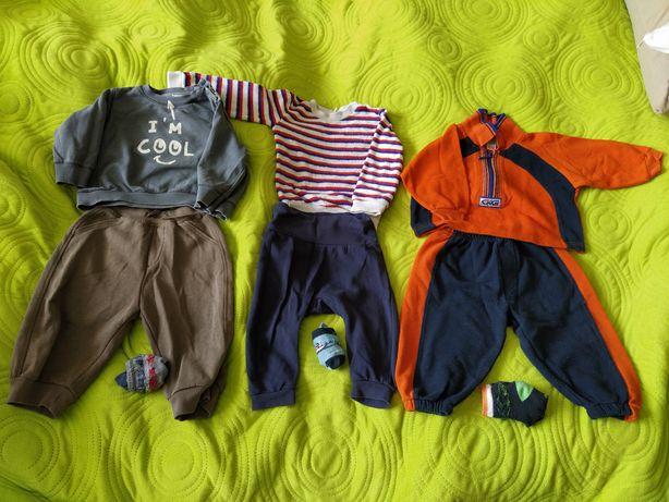 Spodnie, bluzy, body niemowlęce