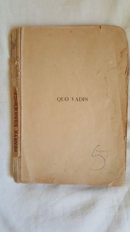 Książka wydana w latach 1947 - 50 Quo Vadis