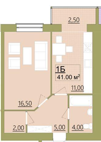 Цнтр міста,1-кімнатна квартира, Бандери-Сахарова