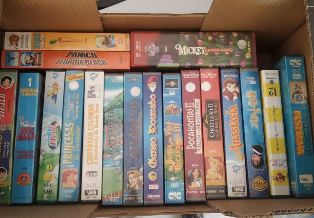 Conjunto de cassetes VHS