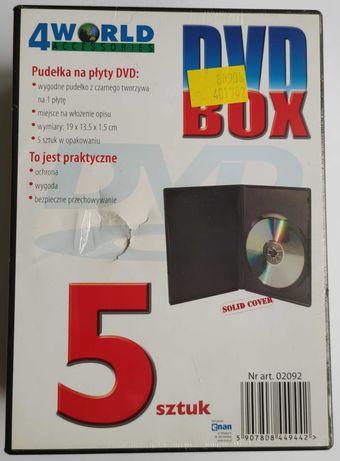 Puste pudełka na płyty CD, DVD