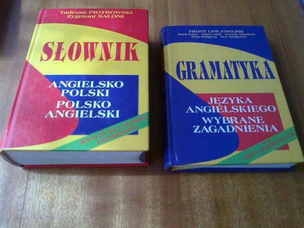 Słownik angielsko-polski polsko-ang Piotrowski i Saloni + Gramatyka