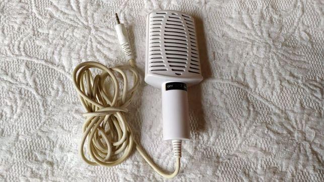 Microfone com fio, branco