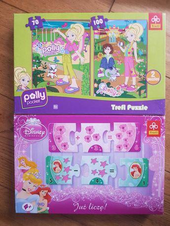 Puzzle Polly  trefl i już liczę nauka liczenia