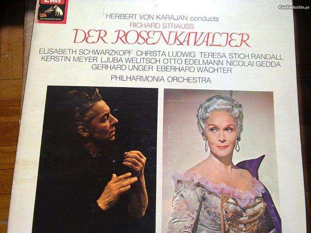 O Cavaleiro da Rosa, ópera R. strauss, caixa com 4 discos vinil