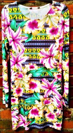 Piekna neonowa sukienka mini