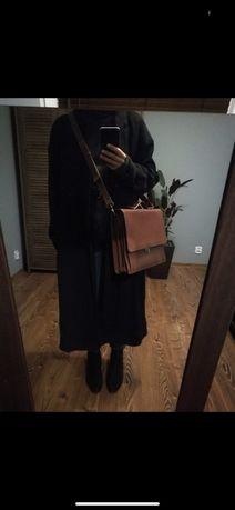 Torba na ramie vintage aktowka torba na pasku neseser