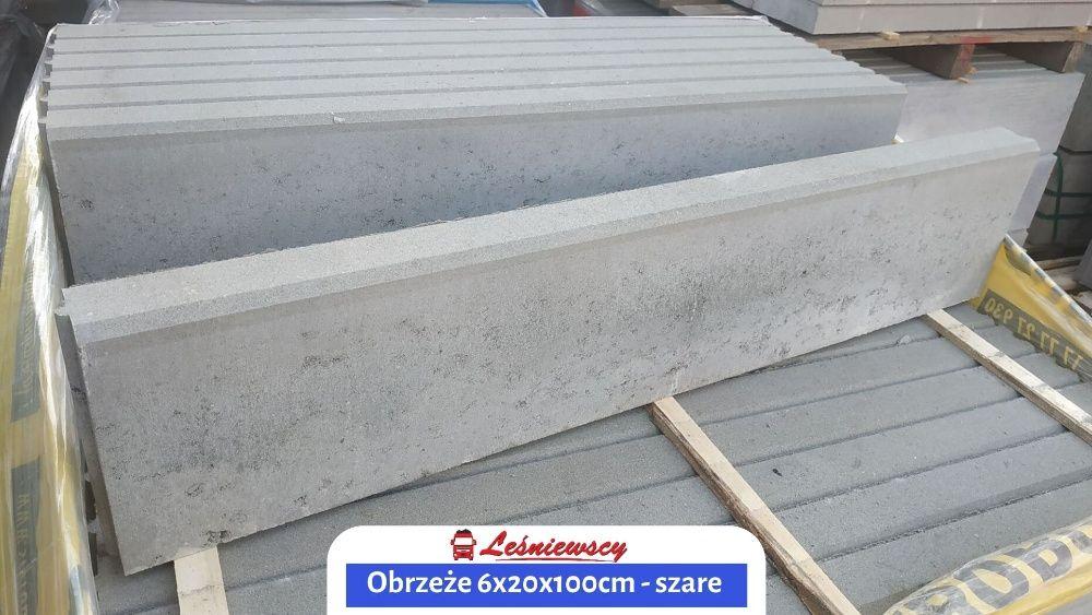 Krawężnik do kostki brukowej/trawnika SZARY-6x20x100cm Opornik/Obrzeże