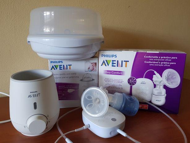 Esterilizador microondas, extrator de leite materno, aquecedor