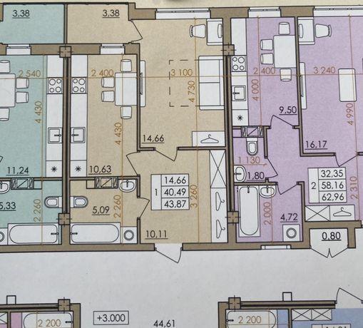 1 комнатная квартира ЖК Европейский квартал