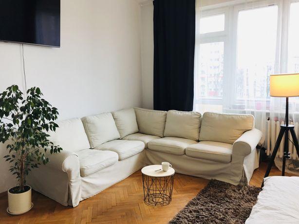 Ikea Ektorp kanapa narożnikowa sofa narożnik beżowa duża 4 osobowa
