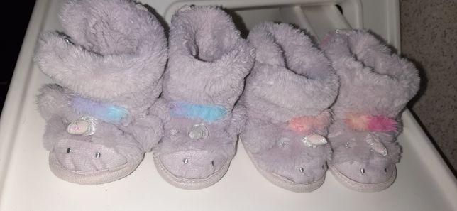 Меховые Тапочки-сапожки с единорогами для девочек  от  Next