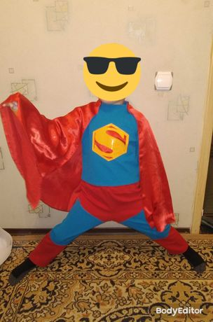 Карнавальный нарядный костюм на мальчика Супермена