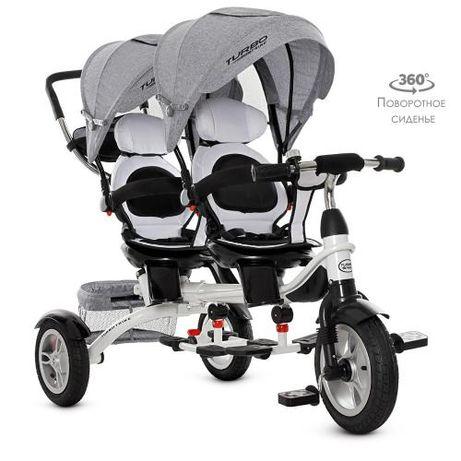 Велосипед трехколесный для двоих детей, двойни,TURBOTRIKE DUO 3116