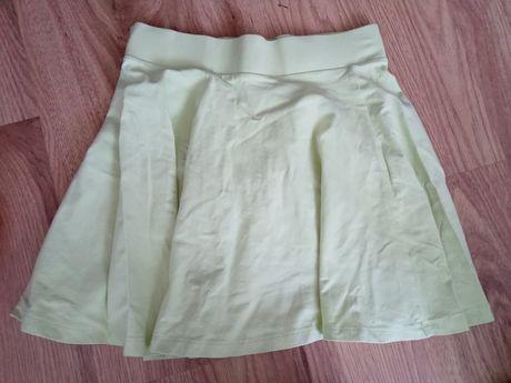 Limonkowa spódnica