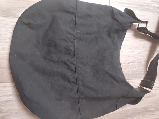 Torebka czarna z grubego płótna