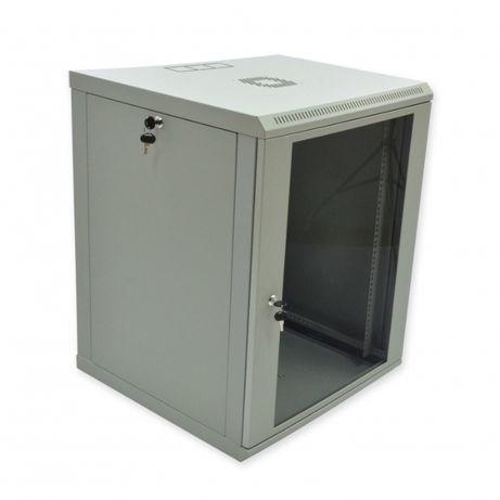 Серверный, коммутационный шкаф, настенный 15U-600x600 (стекло) серый