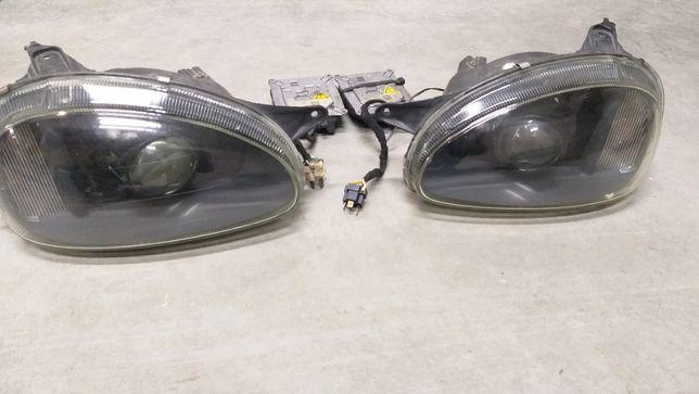 Komplet lampy przednie CORSA B XENON CUSTOM + przetwornice