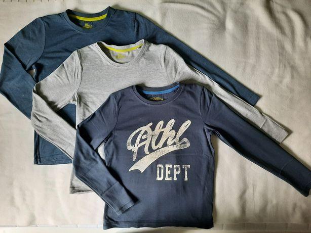 T-shirt 134/140, 3 szt, bluzki długi rękaw