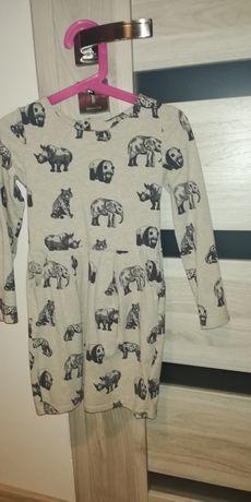 Sukienka hm 110/116 safari