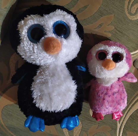 ty глазастик пингвин большой 25см Waddles  Beanie Babies