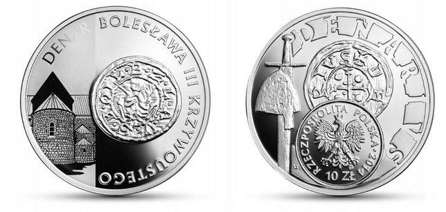 Moneta srebrna 10 zł Denar Bolesława III Krzywoustego rok 2014