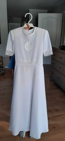 Sukienka komunijna+bolerko+wianek