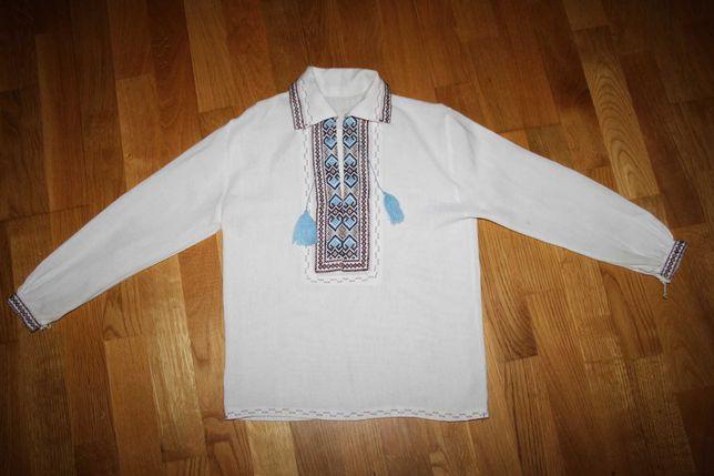 Вишиванка для хлопчика 128р. / вышитая рубашка вышиванка полотно