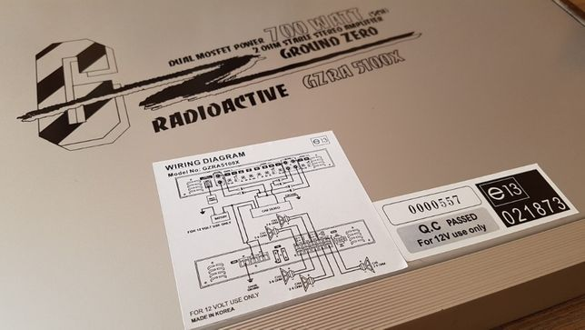 Усилитель звука Ground Zero GZRA 5100X автомобильный 5-канальный