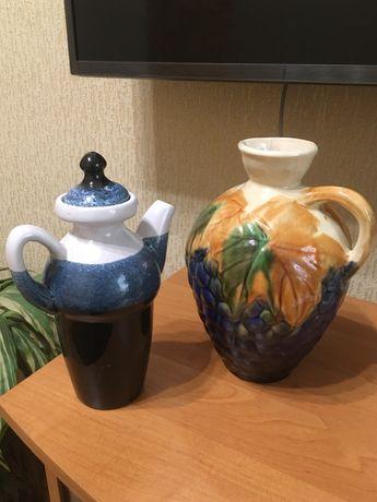 Кувшин « виноград» и кофейник
