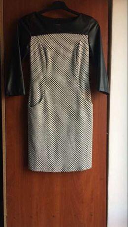 Śliczna sukienka z eco skóra