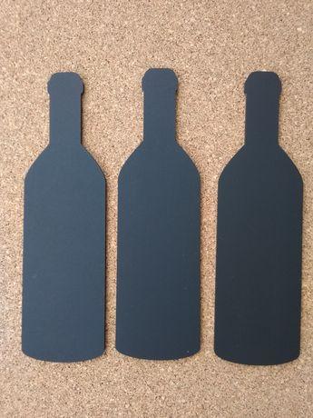 Меловая доска, грифельная доска,бокал, бутылка
