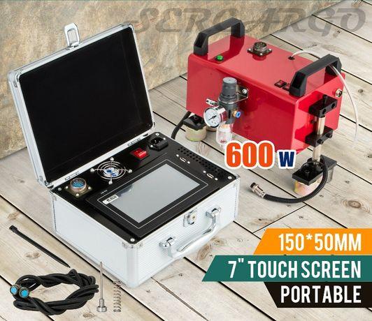 Máquina de gravação em metais Pneumatica+Ecrã tátil 7