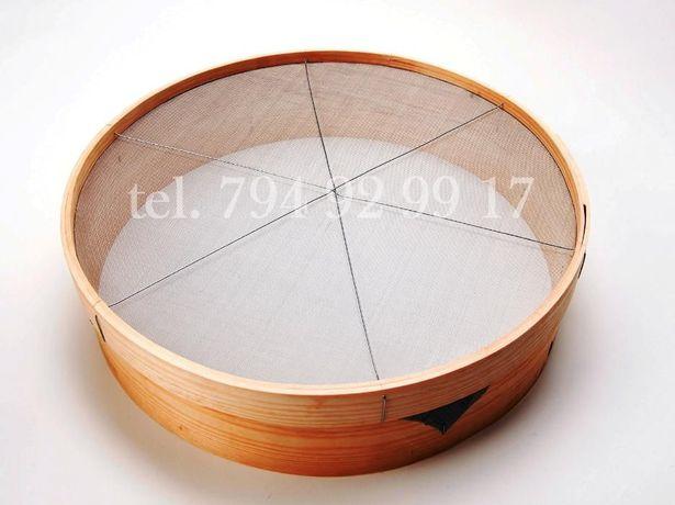 Sito okrągłe przetak rzeszoto 30cm 40cm 45cm 50cm do mąki zboża ziemi