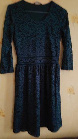 Sukienka koronkowa turkusowa house