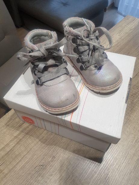 Buty trzewiki dziecięce rozm. 21 długość wkładki 14cm dziewczęce