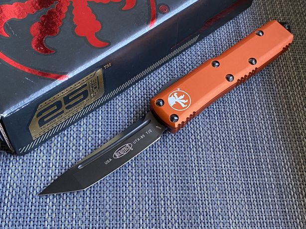 Нож Microtech UTX-85 T/E 233-1DLCTOR DLC Blade Hardware Orange HW