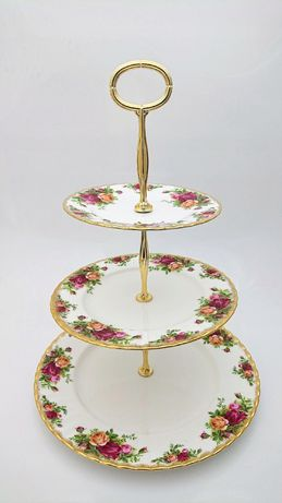 Patera 3 Poziomy Royal Albert Old Country Roses