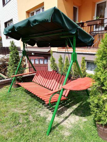 Huśtawka ogrodowa metalowa duża