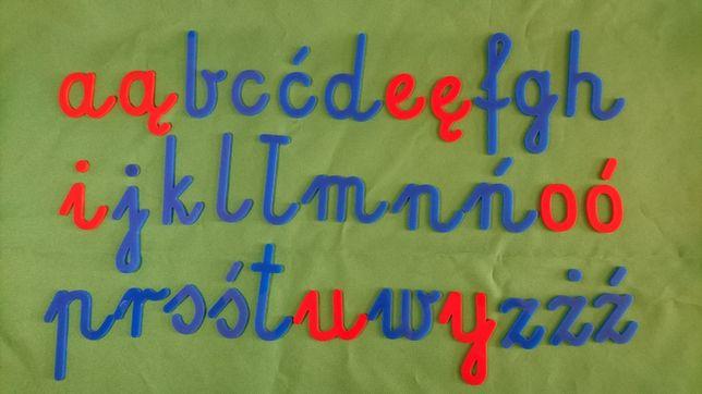 Ruchomy alfabet + GRATIS ,  duże, małe litery,  samogłoski,  dwuznaki