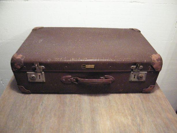 Stara solidna walizka Wico Görlitz Art-deco RETRO