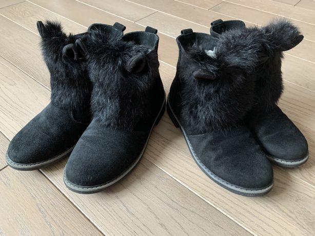 Зимние ботинки сапоги ( полусапожки) для девочки, 35р.