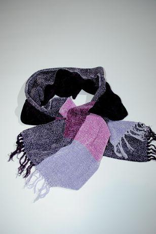 шарф женский велюровый бархат сиреневый фиолетовый мягкий
