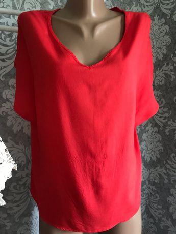Блуза летняя Primark красная оверсайз