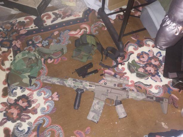 Equipamento mais arma de airsoft