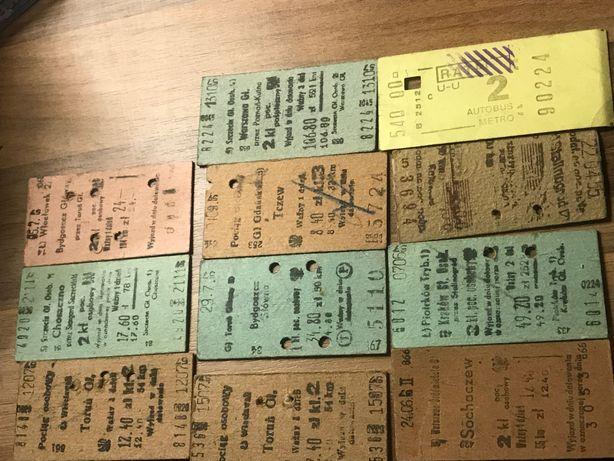10 starych biletów PKP