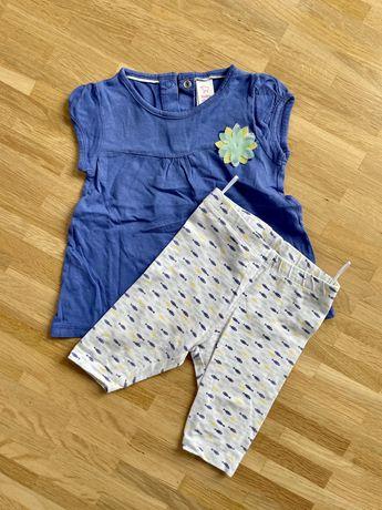 Komplet bulzka krótki rękaw+spodnie dla dziewczynki rozmiar 74