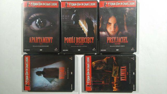 Zestaw filmów DVD horrory itp.